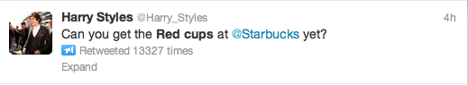 Starbucks Red Cups Tweet 9
