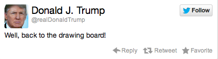 Donald Trump Election Reaction Tweet 1