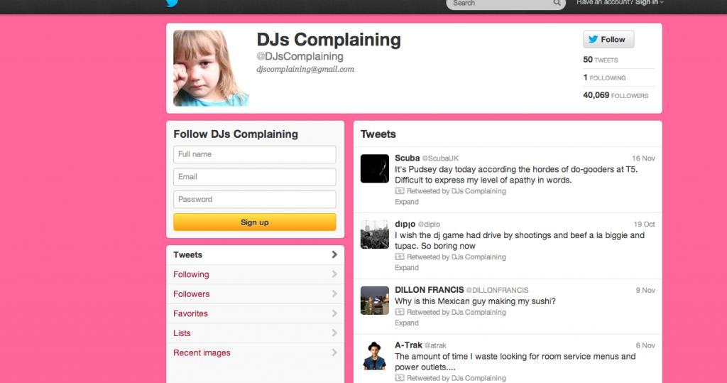 DJs complaining