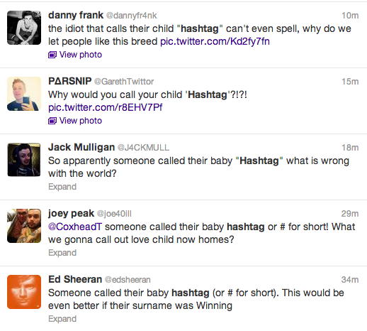 Hashtag Baby Twitter Screengrabs 1