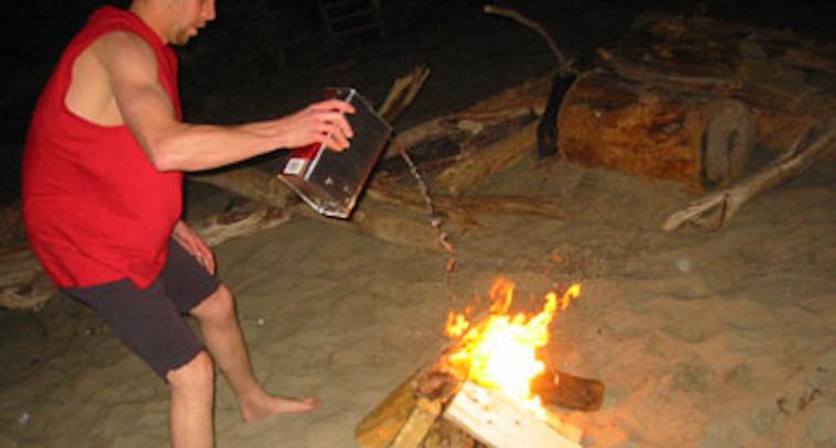 redneck bonfire