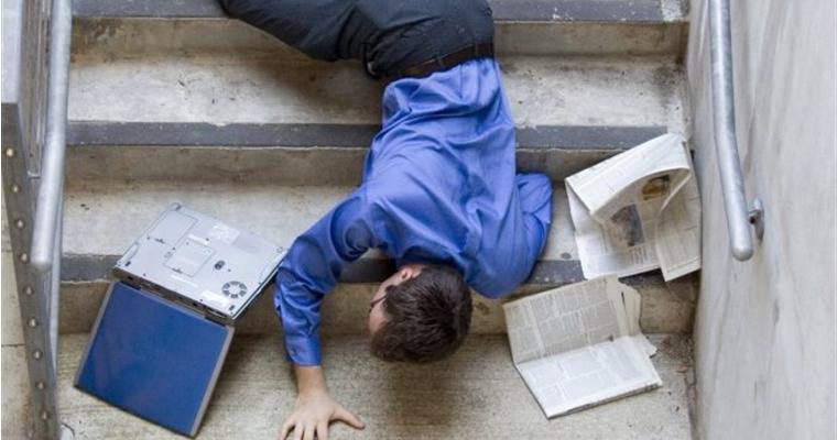 Bloke Falling Down