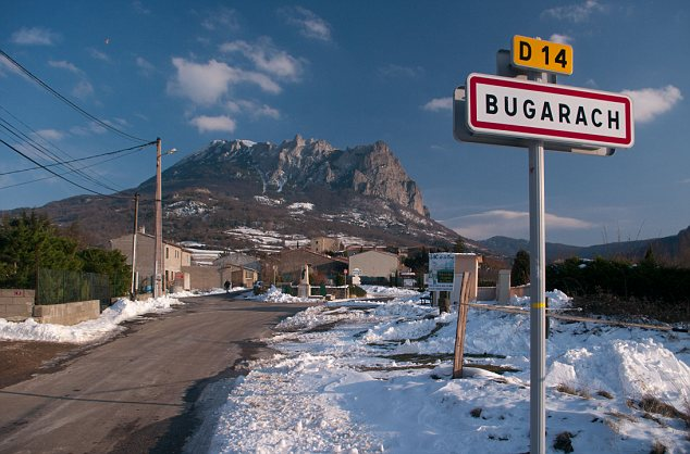 Bugarach-Village-Sign-and-Mountain-