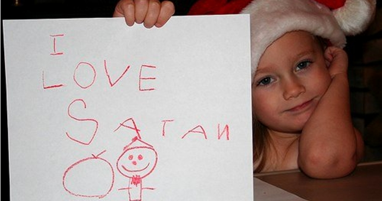 Christmas Satan Child Fail