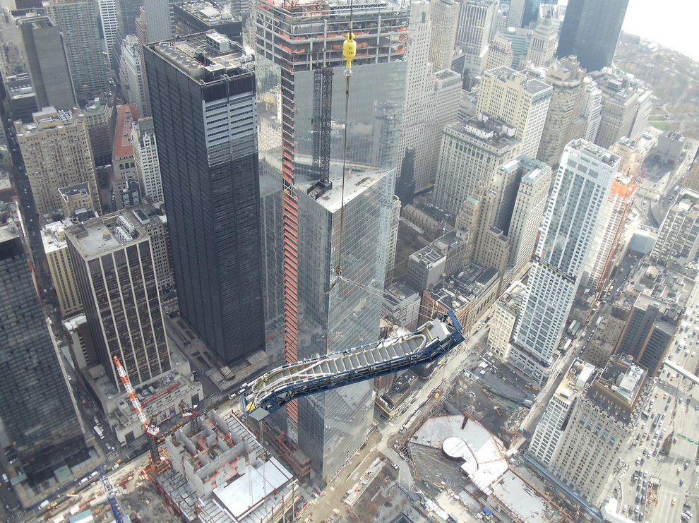 Escalators Hoisted Up World Trade Center 3
