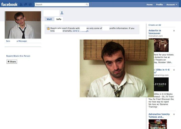 Guy Dresses Up As Facebook Users 1