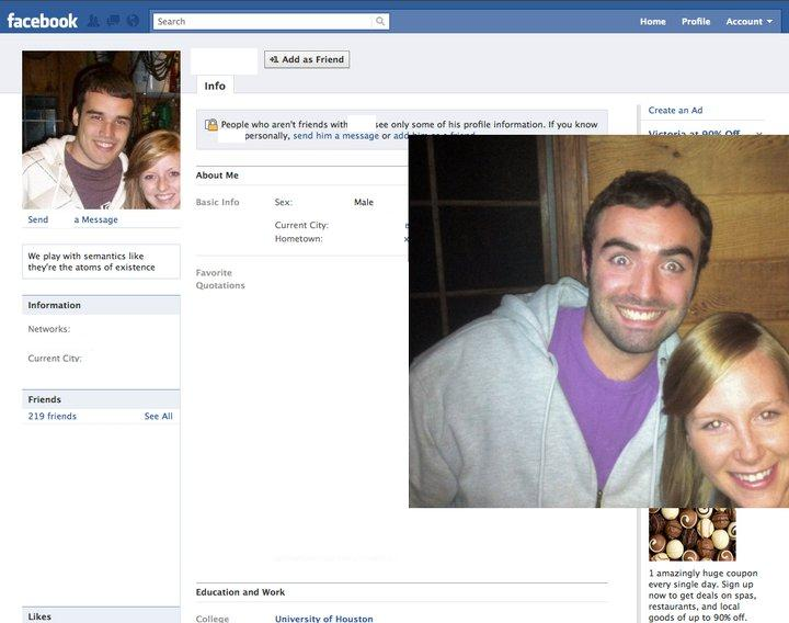 Guy Dresses Up As Facebook Users 5