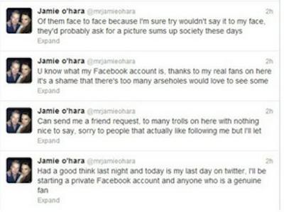 Jamie O Hara Twitter Screengrab 6