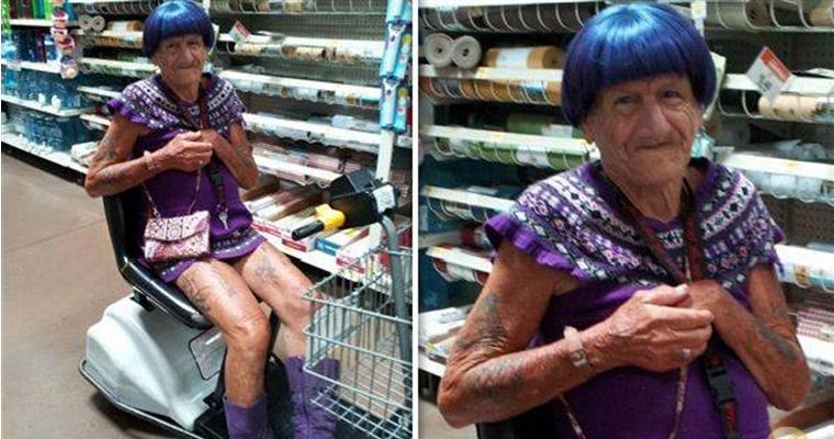 People of Walmart - Purple Guy