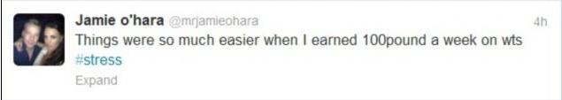 Jamie O' Hara Twitter Screengrab 1