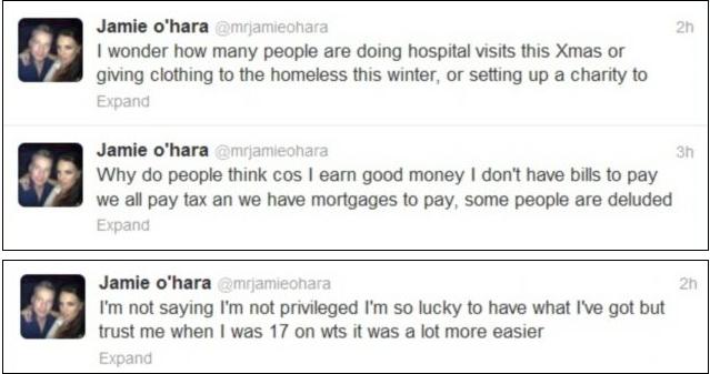 Jamie O Hara Twitter Screengrab 5