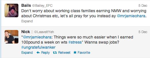 Jamie O Hara Twitter Screen Grab 2