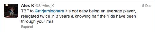 Jamie O Hara Twitter Screengrab 4
