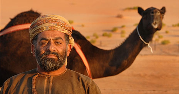 Sultam Of Oman Camel Mounted Bagpipe Band - Camel Owner