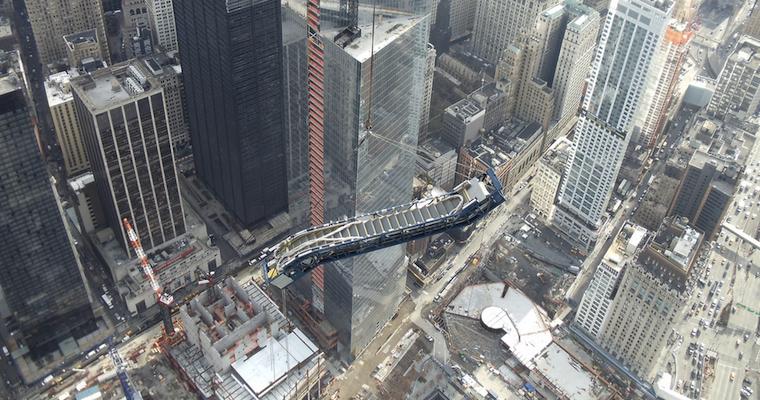 World Trade Center Escalator Hoist Featured
