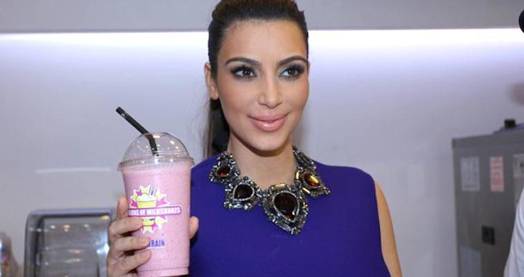kim kardashian bahrain milkshake