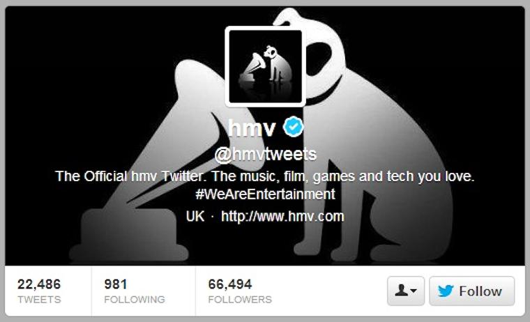 HMV Twitter