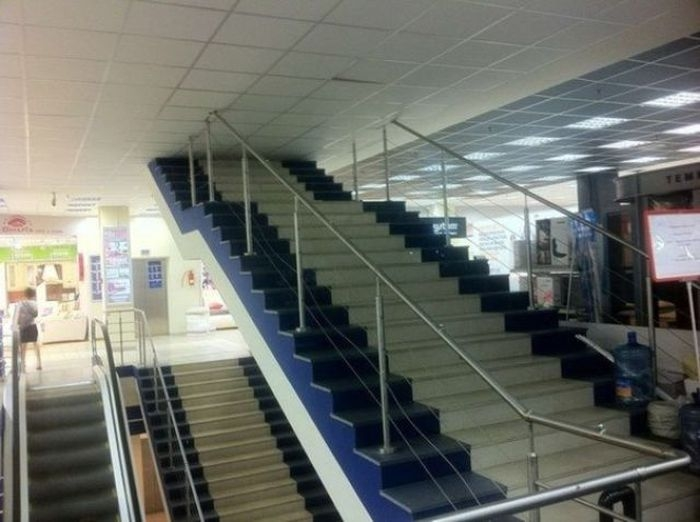 Hilarious Russian Photos - Stairway To Nowhere