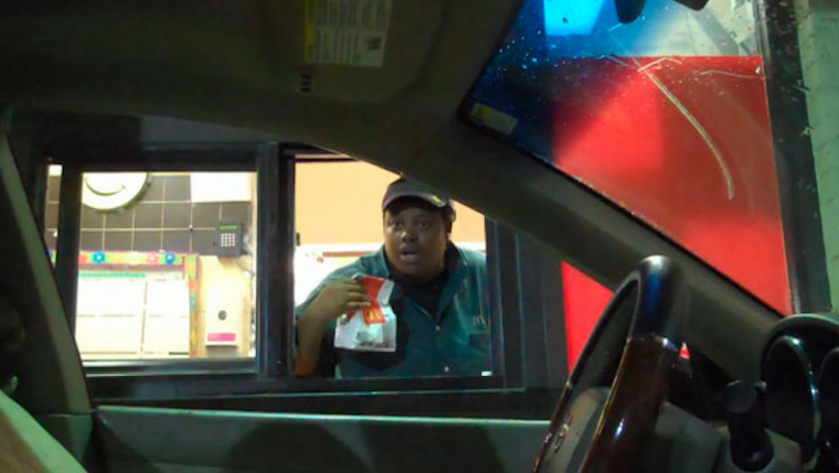 Invisible Driver Drive Thru Prank