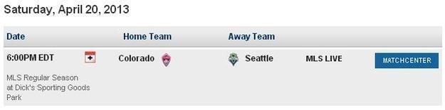 MLS Schedule 4:20