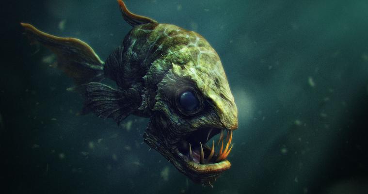 Man Vs Giant Fish