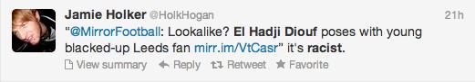 El Hadji Diouf Blacking Up Twitter Screengrab 4