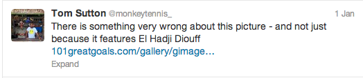 El Hadji Diouf Blacking Up Twitter Screengrab 1