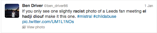 El Hadji Diouf Blacking Up Twitter Screengrab 5