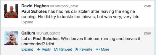 Paul Scholes Twitter Screengrab 2
