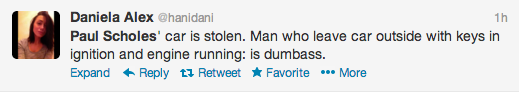 Paul Scholes Twitter Screengrab 5