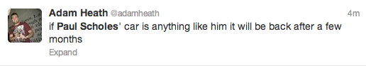 Paul Scholes Twitter Screengrab 6
