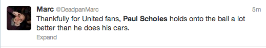 Paul Scholes Twitter Screengrab 7