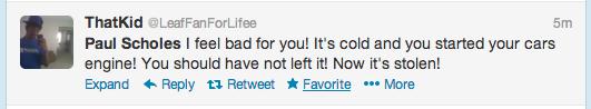 Paul Scholes Twitter Screengrab 8