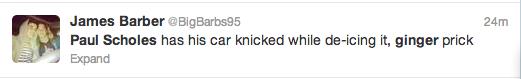 Paul Scholes Twitter Screengrab 13
