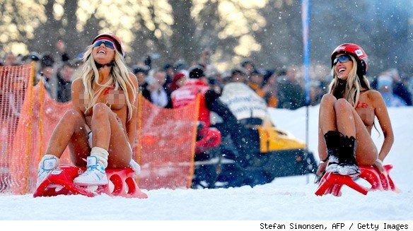Germany Topless Tobogganing 2013 - Jokes