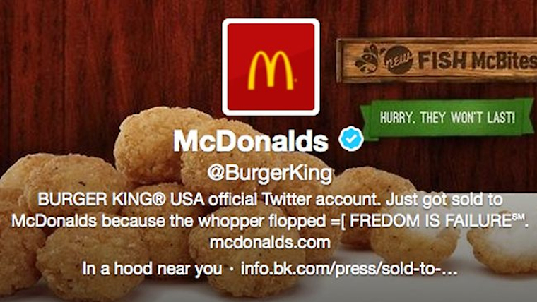 McDonald's Burger King Twitter Featured