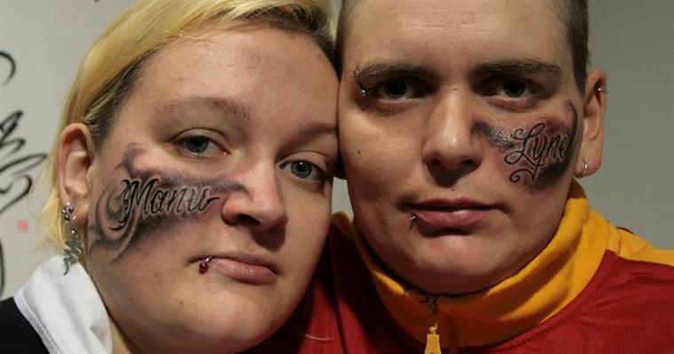 Rouslan Tomumaniantz - Tattoo Face Couple Names
