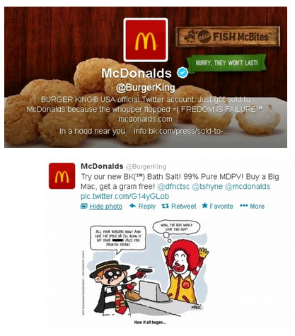 McDonald's Burger King Twitter Takeover 1
