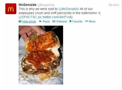 McDonald's Burger King Twitter Takeover 3
