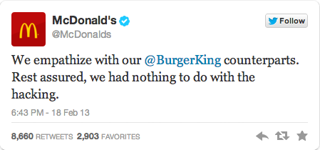 McDonald's Burger King Twitter Takeover 5McDonald's Burger King Twitter Takeover 5