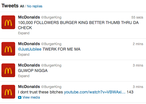 Mcdonald's Burger King Twitter Takeover 6