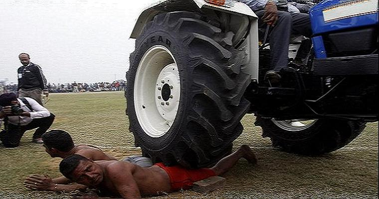 Tractor run over