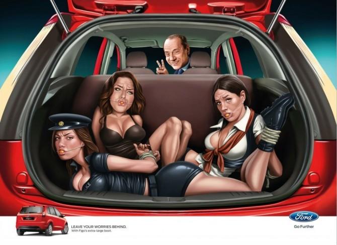 Berlusconi Ford Advert