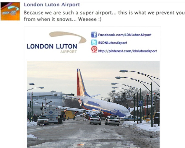 Luton Airport Plane Crash
