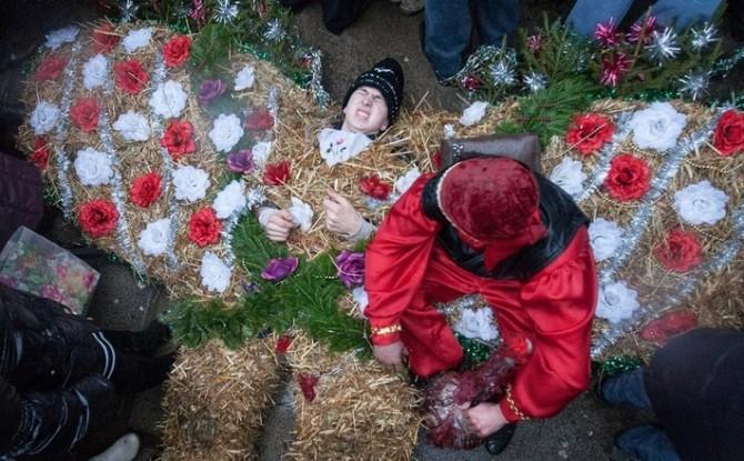 Malanka - new year festival - Ukraine, Belarus, Russia