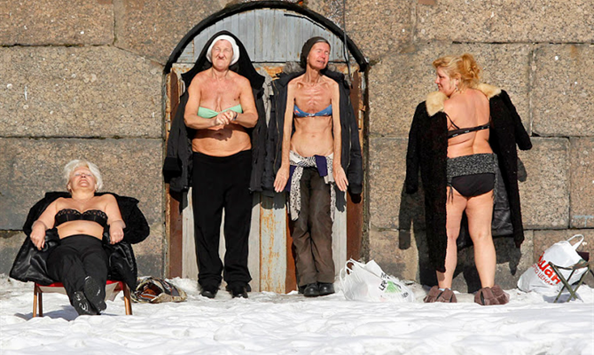 Russia With Love Photos - Nun Bathing - Header