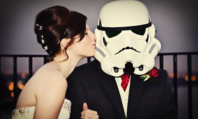 star wars wedding couple