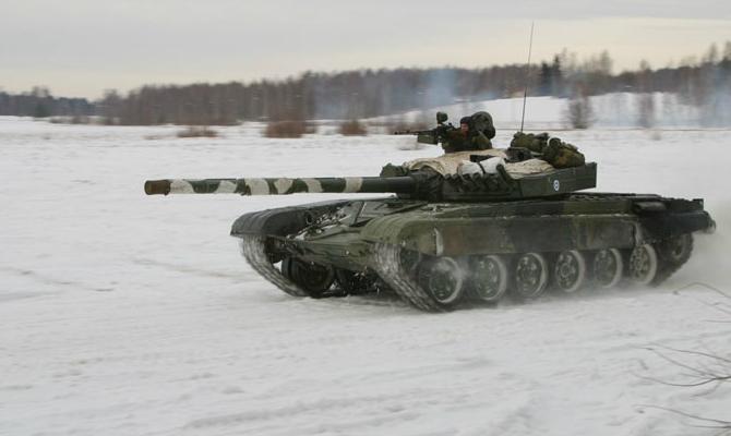 PanssariPrikaatin näytöksen harjoitus T-72M1