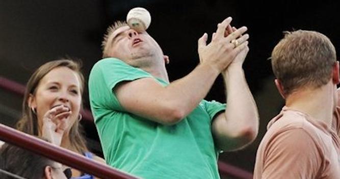 Baseball In The Face