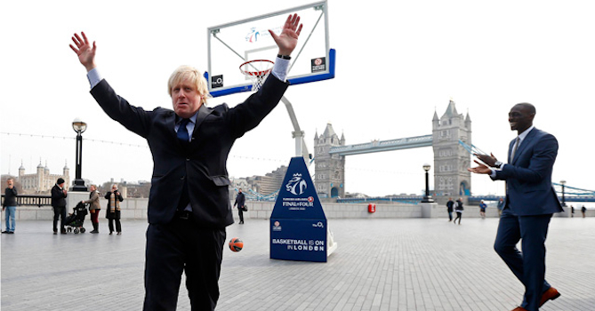 Boris Johnson Basketball Shot